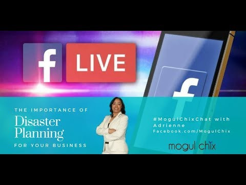 #MogulChixChat The Importance of Disaster Planning for Your Business.