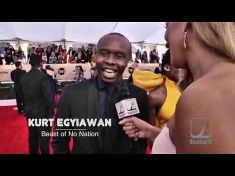 Kurt Egyiawan from Beast of No Nation on SAG Award Red Carpet