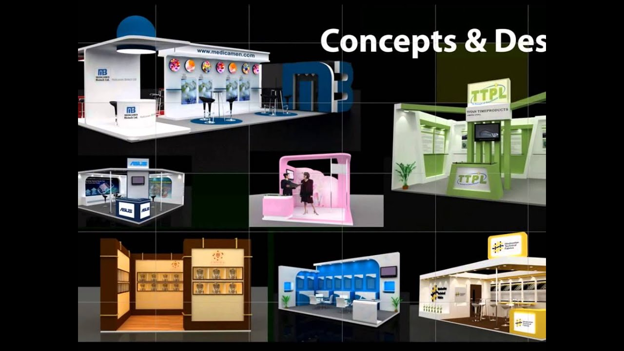 Fascia Board Exhibition Booth : Exhibition stall design india youtube
