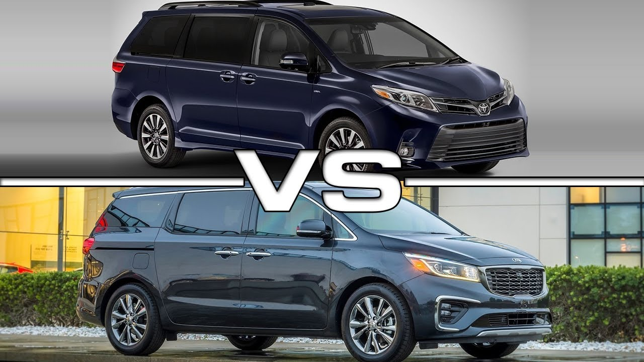 2018 toyota sienna vs 2019 kia sedona technical specifications youtube. Black Bedroom Furniture Sets. Home Design Ideas