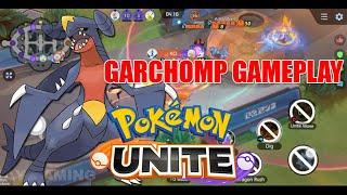 POKEMON UNITE GARCHOMP GAMEPLAY - BETA VERSION