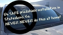 unsafe windshield installation repaired by Auto Glass Service