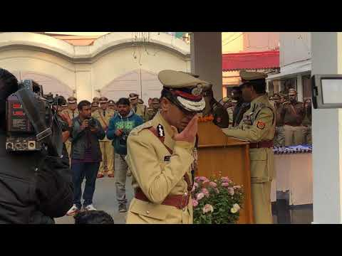 DGP UP Sri OP Singh saluting the national flag on the occasion of Republicday2018 at DGPHQ Lucknow.