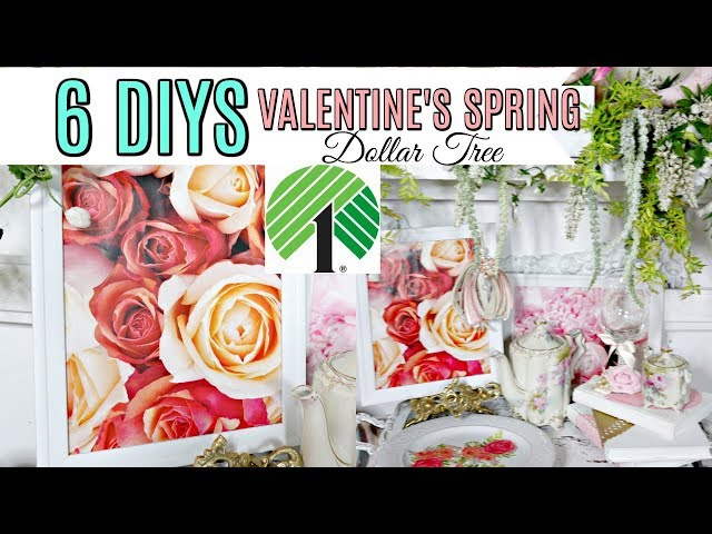 "????6 DIY DOLLAR TREE DECOR CRAFTS VALENTINE SPRING BRIDAL???? ""Home Sweet Home""ep12 Olivias Romanti"