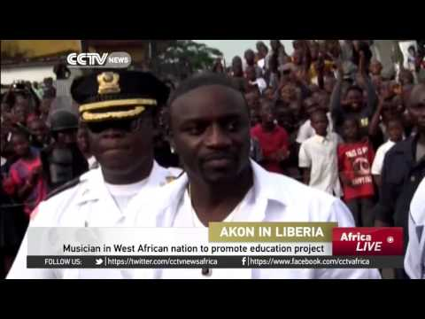 Akon in Liberia to promote education project