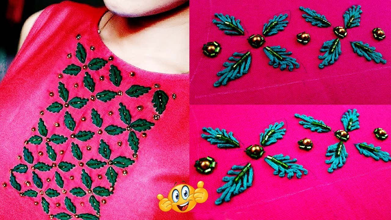 Latest Hand Embroidery dress neck designs   latest Embroidery dress neck  designs 20   neck design