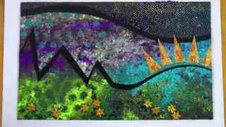 Textile art with velvet- free machine embroidery projects