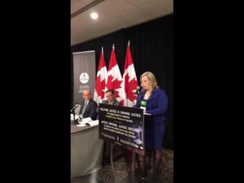 Senator Denise Batters discusses the Senate Legal Committee's interim report on court delays