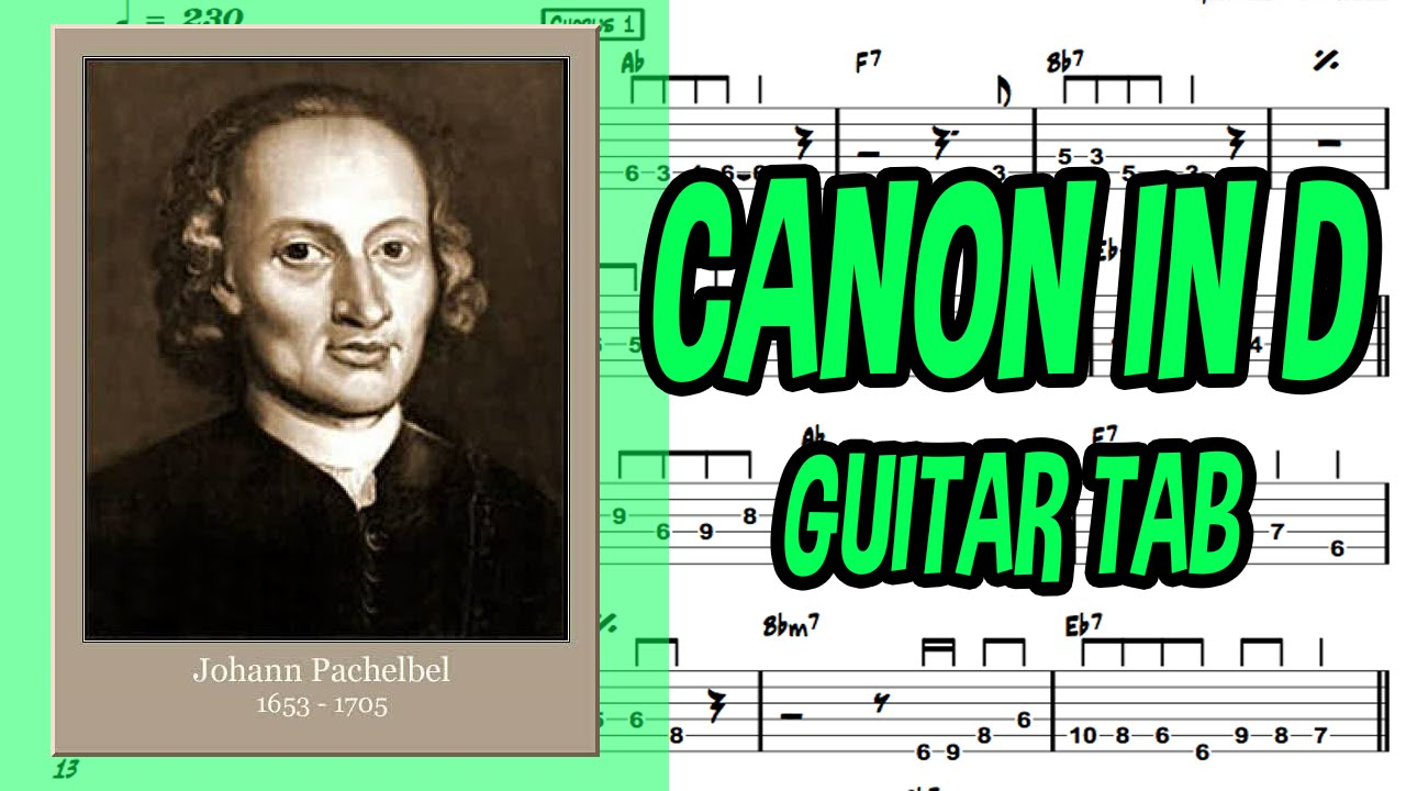 learn how to play canon in d fingerstyle acoustic guitar lesson tabs johann pachelbel youtube. Black Bedroom Furniture Sets. Home Design Ideas