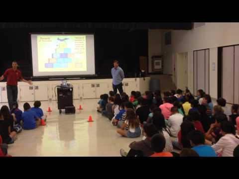 Harper for Kids & Stanford Coach Paul Goldstein at Bracher Elementary School