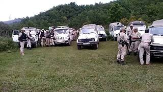 Manipur police commando at hill