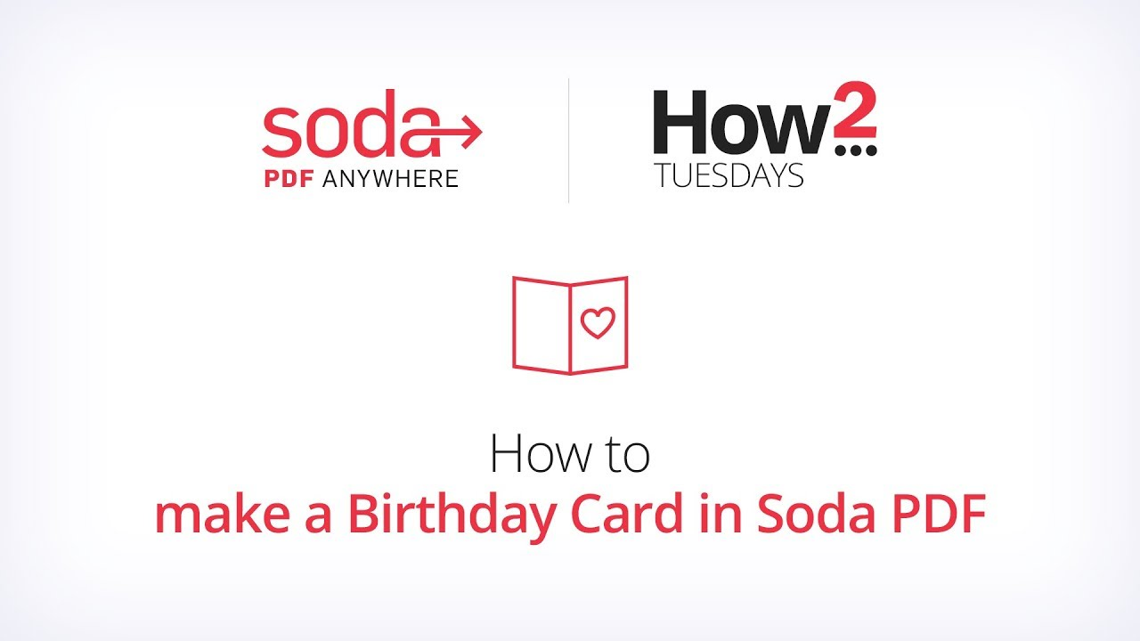 How To Make A Birthday Card In Soda PDF