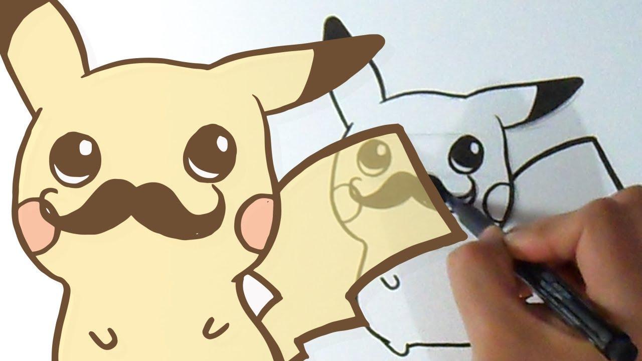 Come Disegnare Pikachu Con I Baffi Kawaii Youtube