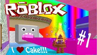 Roblox Game Play - (#1) Making a Huge Chocolate Cake!! Yuuuum!!