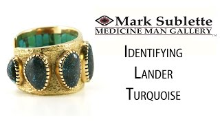 Indian Jewelry: How to identify and date Lander Turquoise in Native American Jewelry