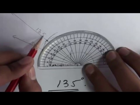 How to construct angles 105 120 135 150 degrees - Compass