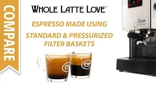 Espresso Shots Compared Using Standard and Pressurized Filter Baskets thumbnail