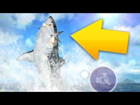 ПОЙМАЛ ОГРОМНУЮ БЕЛУЮ АКУЛУ! ЛУЧШИЙ СИМУЛЯТОР РЫБАЛКИ НА ТЕЛЕФОН!  - Fishing Strike