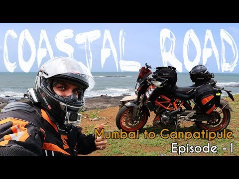 Mumbai to Ganpatipule Route | Coastal Road Adventure |  Episode 1 | Solo Ride | KTM Duke 390