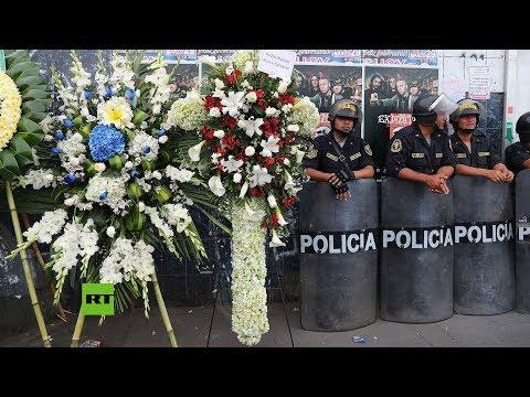 Trasladan el cuerpo del expresidente peruano Alan García