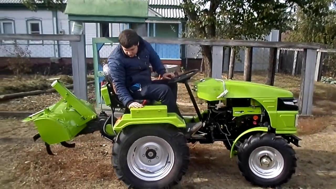 Китайский ременной трактор