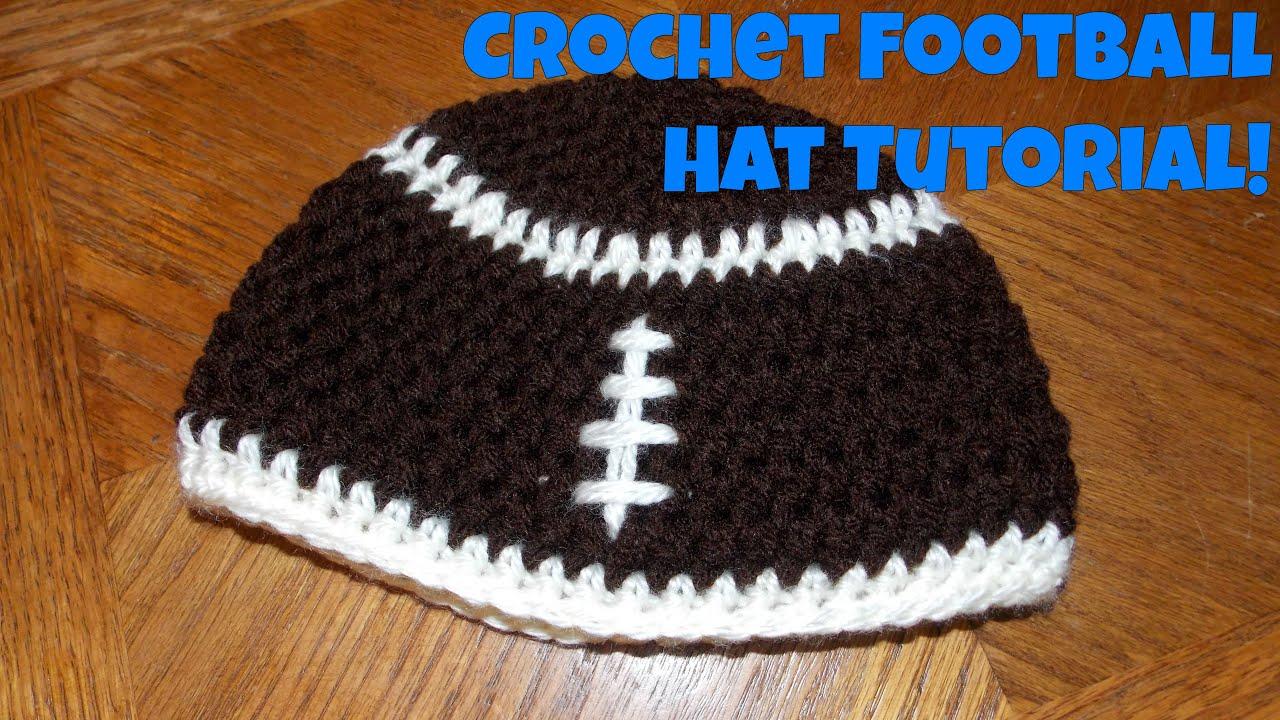 Crochet Football Hat Youtube