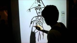 Criando a xilogravura de cordel (lampião)