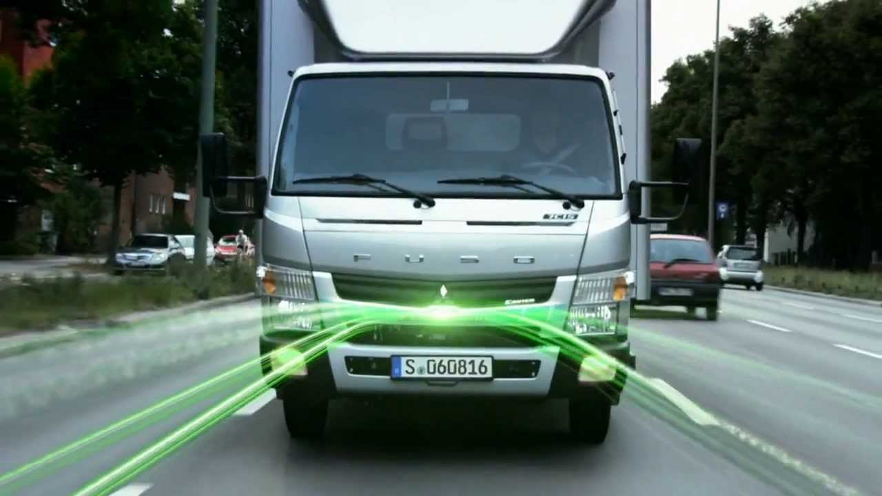 the fuso canter eco hybrid -- green light for efficiency - youtube