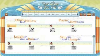 Brown Eyed Girl - Van Morrison - Guitaraoke, Chords & Lyrics, Guitar Lesson - playwhatyoufeel.com