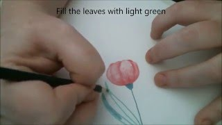 How to Draw a Tulip Flower - Speed Drawing and Colouring