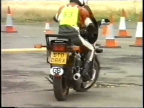 Lesson - How to ride a motorcycle slowly, slow speed control.