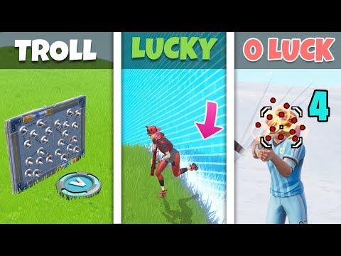 TROLL vs LUCKY vs UNLUCKY