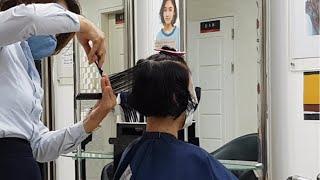 여성 곱슬머리 숏커트, 그라쥬에이션 - 포항 커트 잘 …