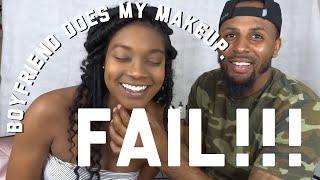 Boyfriend Does My Makeup Challenge | ft BM