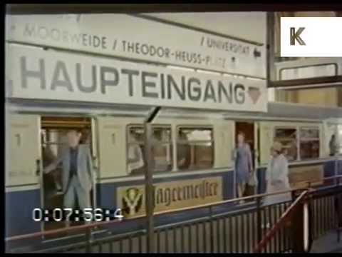 1970s Hamburg, Germany, Street Scenes and Station, Rare Footage from 35mm