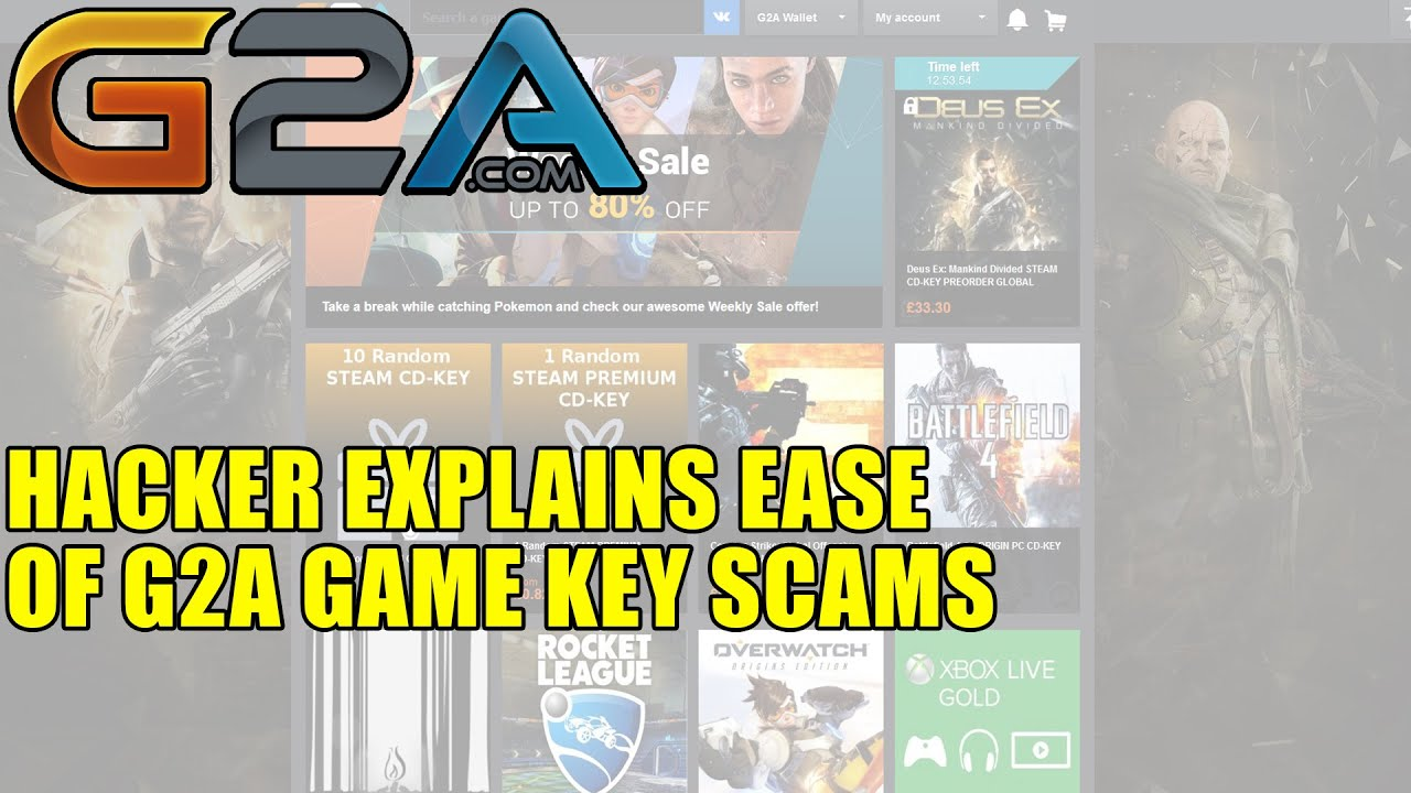 Hacker Explains Ease of G2A Game Key Scams