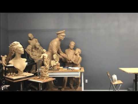 Лепим Модель в мастерской Бена Хаммонда / sculpting a model at workshop of Ben Hammond