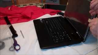 How to Repair or Replace a Broken Laptop Screen on a Toshiba Satellite with Web Cam