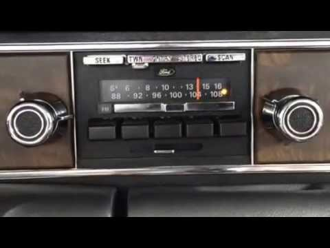77 Lincoln AM FM Seek Scan Town Country Stereo Radio