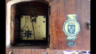 Vintage Warmink Dutch 8 Day Nut Wood Zaanse Wall Clock