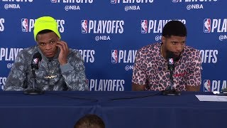 Russell Westbrook amp Paul George Postgame Interview - Game 3  Blazers vs Thunder  2019 NBA Playoffs