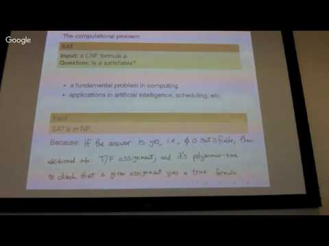 AOR Lecture 22: SAT and NP-complete problems
