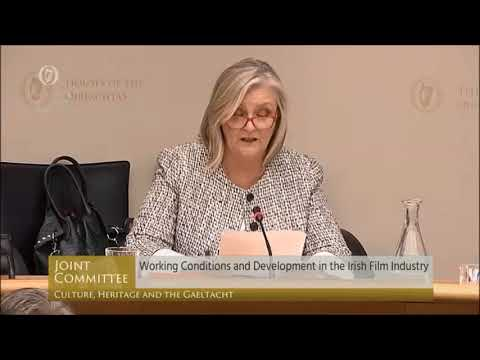 SPI CEO Elaine Geraghty talking about the Irish Film Industry in the Oireachtas