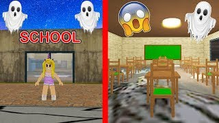 I Stayed At A Haunted Abandoned School For 24 Hours... (Roblox)