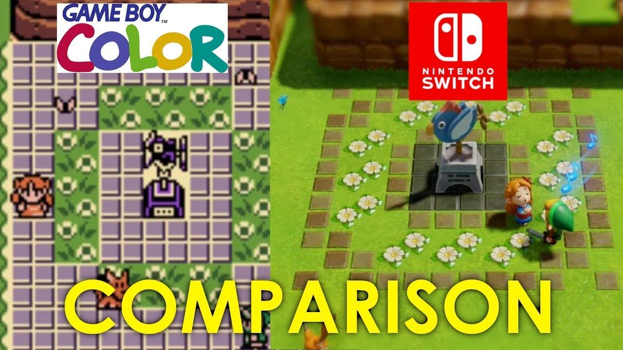 The Legend Of Zelda Link S Awakening 1998 Gbc Vs 2019 Switch Comparison