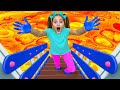 Sasha Pretend Play in Colored Hand Painting and Sing Wash your Hands Song