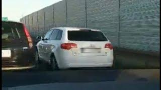 Zniecierpliwieni kierowcy korek na S3 omijali pasem awaryjnym...
