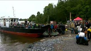 Första lägret på Utöya sedan massakern - Nyheterna (TV4)