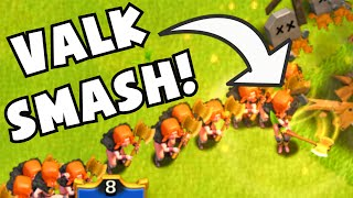 "Clash of Clans ""MAXED LEVEL 5 VALKYRIES"" OP Gameplay 