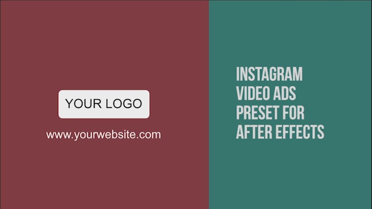 free instagram video ads template after effects youtube. Black Bedroom Furniture Sets. Home Design Ideas